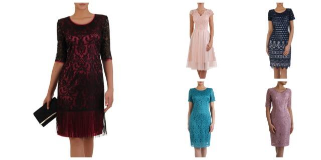 Różne koronkowe sukienki